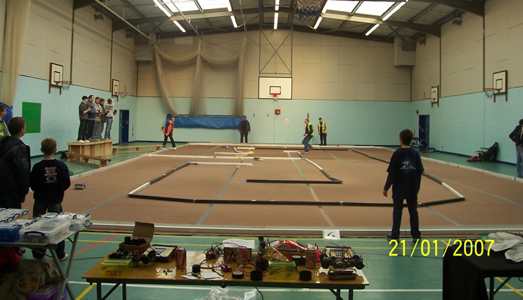 A typical indoor race layout